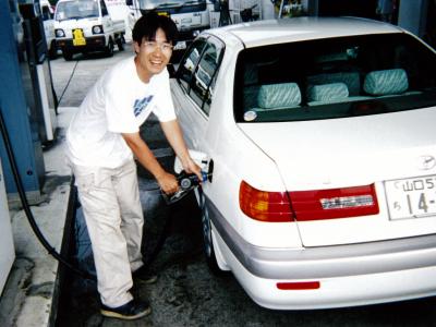 JA研修ではガソリンスタンドにも勤務しました。