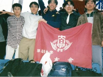 早慶戦をサークルの仲間と観戦しました。