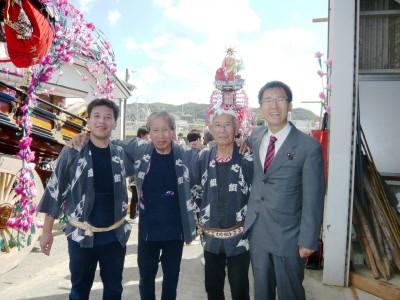 大須賀町内のお祭りにご挨拶に伺いました
