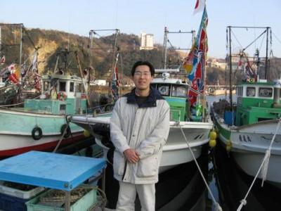 和歌山県内の漁港にて。水産貸出業務も担当しました。