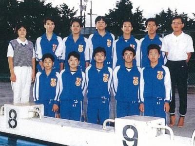 磐田第一中学校では水泳部に所属していました。種目は平泳ぎでした。