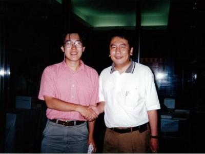 民主党研修会にて、枝野幸男議員と。